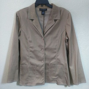 Dialogue size 14 Camel brown Blazer Womens Jacket